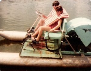 """Me with my brother during """"Family Camp"""" at Windermere, 1981"""