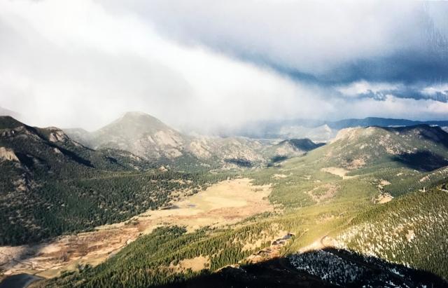 mountains in Rocky Mountain Park, Estes, Colorado